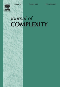 Cover image for Journal of Complexity