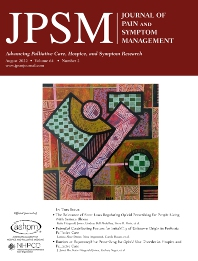 Cover image for Journal of Pain and Symptom Management