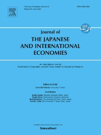 Cover image for Journal of the Japanese and International Economies