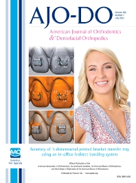 American Journal of Orthodontics and Dentofacial Orthopedics - ISSN 0889-5406