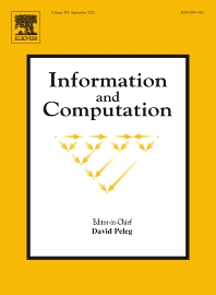 Information and Computation - ISSN 0890-5401