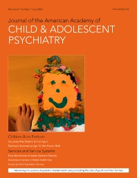 Cover image for Journal of the American Academy of Child & Adolescent Psychiatry