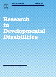 Cover image for Research in Developmental Disabilities