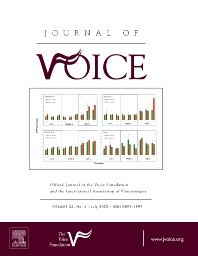 Journal of Voice - ISSN 0892-1997