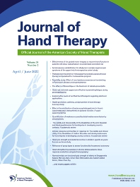 Journal of Hand Therapy - ISSN 0894-1130
