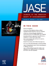 Cover image for Journal of the American Society of Echocardiography