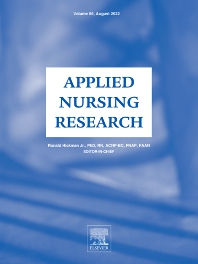 Cover image for Applied Nursing Research