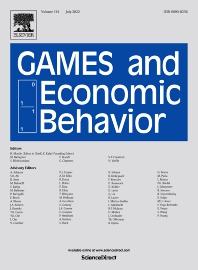 Games and Economic Behavior - ISSN 0899-8256