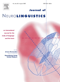 Cover image for Journal of Neurolinguistics