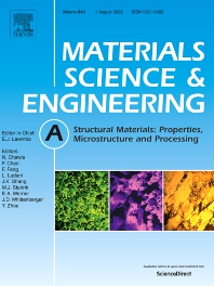 Cover image for Materials Science and Engineering: A