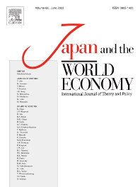 Japan and the World Economy - ISSN 0922-1425