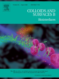 Cover image for Colloids and Surfaces B: Biointerfaces