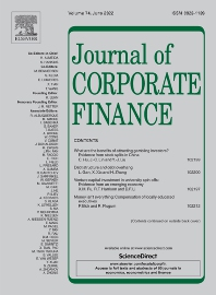 Cover image for Journal of Corporate Finance