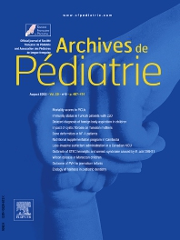 Cover image for Archives de Pédiatrie