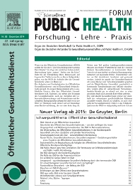 Cover image for Public Health Forum