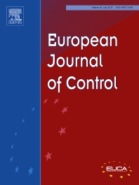 Cover image for European Journal of Control
