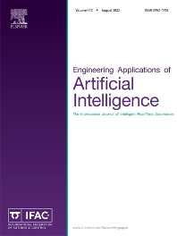 Cover image for Engineering Applications of Artificial Intelligence