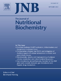 Cover image for The Journal of Nutritional Biochemistry