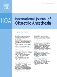 Cover image for International Journal of Obstetric Anesthesia