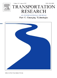 Transportation Research Part C: Emerging Technologies - ISSN 0968-090X
