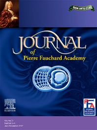 Cover image for Journal of Pierre Fauchard Academy: India Section
