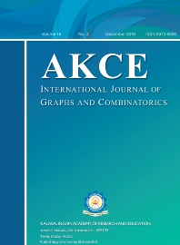 Cover image for AKCE International Journal of Graphs and Combinatorics