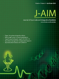 cover of Journal of Ayurveda and Integrative Medicine