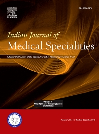 Cover image for Indian Journal of Medical Specialities