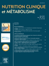 Cover image for Nutrition Clinique et Métabolisme