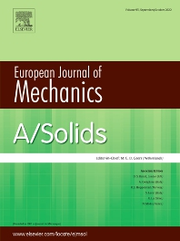 Cover image for European Journal of Mechanics - A/Solids