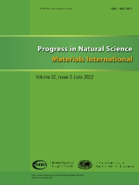 Cover image for Progress in Natural Science: Materials International