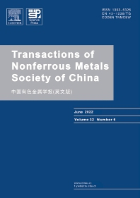 Cover image for Transactions of Nonferrous Metals Society of China