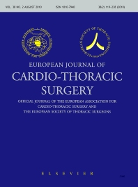 Cover image for European Journal of Cardio-Thoracic Surgery