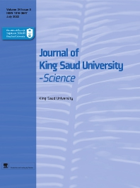 Cover image for Journal of King Saud University: Science