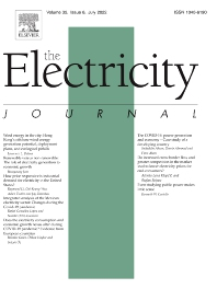 The Electricity Journal - ISSN 1040-6190