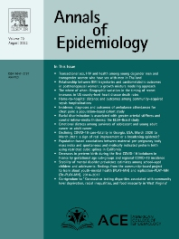 Cover image for Annals of Epidemiology