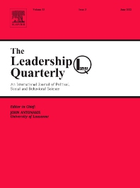 Cover image for The Leadership Quarterly