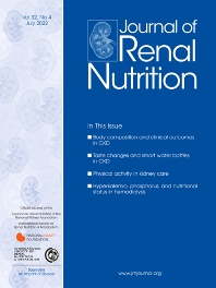 Cover image for Journal of Renal Nutrition