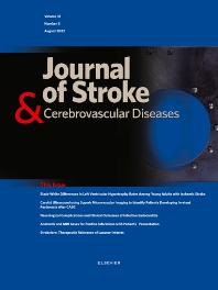 Cover image for Journal of Stroke & Cerebrovascular Diseases