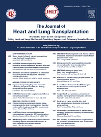 Cover image for The Journal of Heart and Lung Transplantation