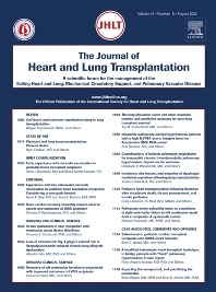 The Journal of Heart and Lung Transplantation - ISSN 1053-2498
