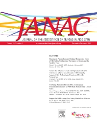 Cover image for Journal of the Association of Nurses in AIDS Care