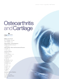 Osteoarthritis and Cartilage - ISSN 1063-4584