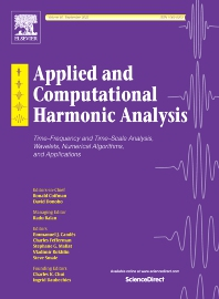 Applied and Computational Harmonic Analysis - ISSN 1063-5203