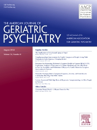 The American Journal of Geriatric Psychiatry - ISSN 1064-7481