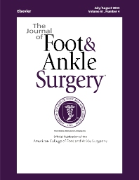 Cover image for The Journal of Foot & Ankle Surgery
