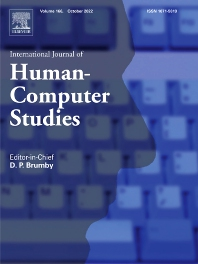 Cover image for International Journal of Human-Computer Studies