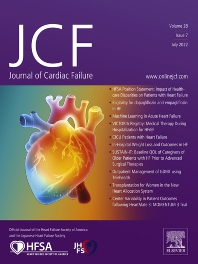 Cover image for Journal of Cardiac Failure