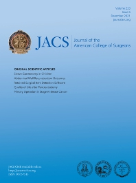 Cover image for Journal of The American College of Surgeons