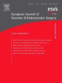Cover image for European Journal of Vascular and Endovascular Surgery
